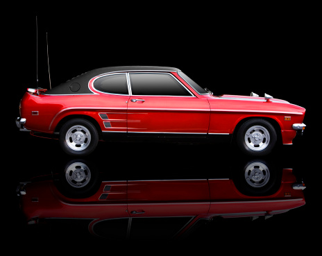Sports Car「Classic seventies sports car on black backgrou」:スマホ壁紙(0)