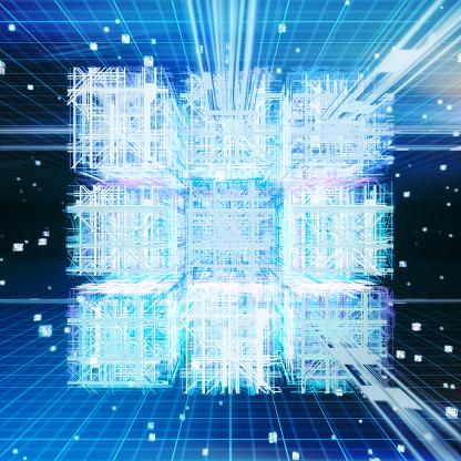 Data「Quantum computing, conceptual artwork」:スマホ壁紙(11)