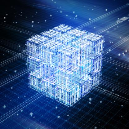 Cloud Computing「Quantum computing, conceptual artwork」:スマホ壁紙(14)