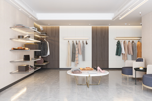 Clothing Store「Luxury Clothing Store With Clothes, Shoes And Other Personal Accessories.」:スマホ壁紙(12)