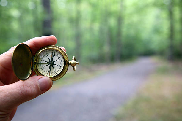 Compass With Blurred Woods Trail:スマホ壁紙(壁紙.com)