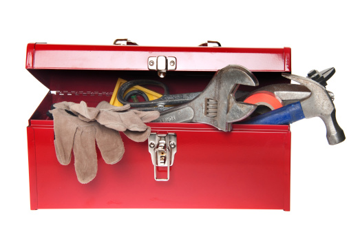 Storage Compartment「Red Tool Box with Variety of Tools」:スマホ壁紙(2)