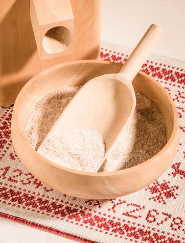 Cross-Stitch「Corn mill and bowl of whole grain wheat flour」:スマホ壁紙(16)
