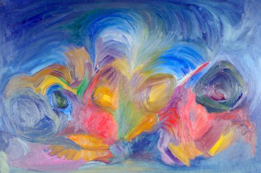 飽和色「抽象的な油絵マルチカラーの質感の背景パターン」:スマホ壁紙(18)