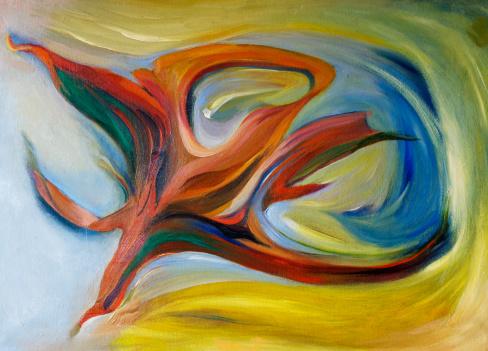 Masterpiece「抽象的な油絵マルチカラーの質感の背景パターン」:スマホ壁紙(19)