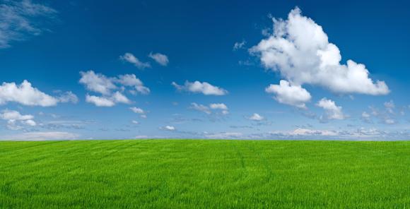 Farm「Panoramic spring landscape 49MPix XXXXL - meadow, blue sky」:スマホ壁紙(8)