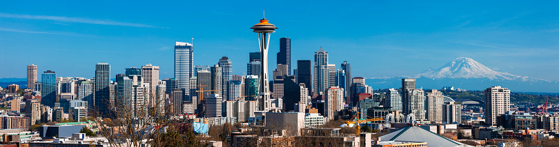 Seattle「Panoramic Skyline of Seattle in Washington State, United States」:スマホ壁紙(13)