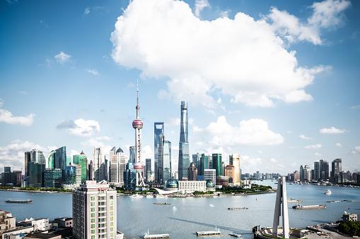 Neon「パノラマに広がる上海の街並みの眺め」:スマホ壁紙(19)