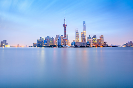 The Bund「Panoramic skyline of Shanghai」:スマホ壁紙(9)