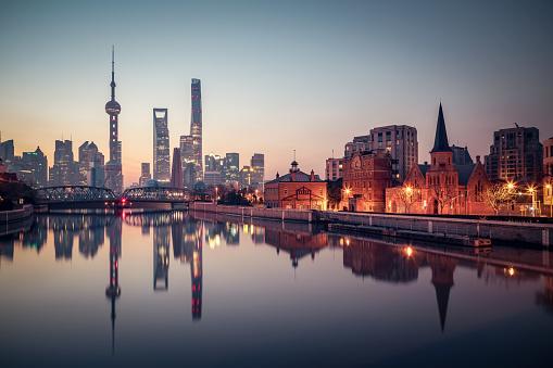 Shanghai「Panoramic skyline of Shanghai」:スマホ壁紙(9)
