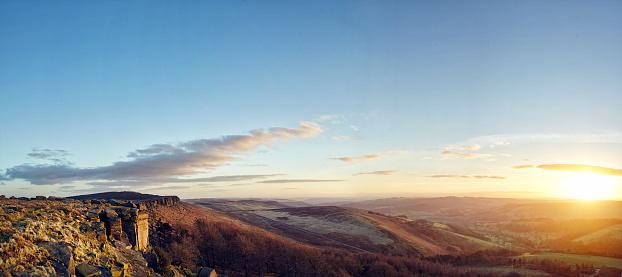 Peak District National Park「Panoramic sunset in Peak District National Park」:スマホ壁紙(10)