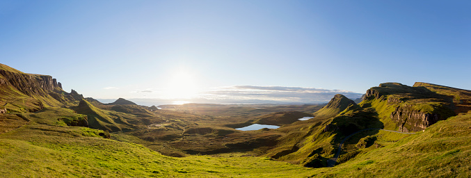 Scotland「Panoramic Sunrise at the Quiraing on Isle of Skye Scotland」:スマホ壁紙(12)