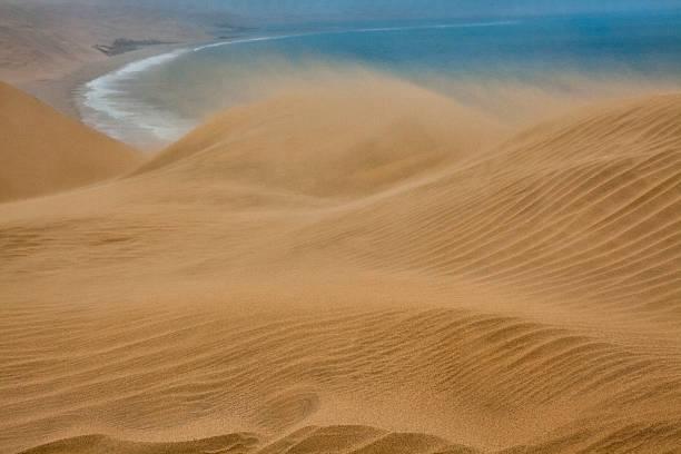 Sand storm on Skeleton Coast, Namibia:スマホ壁紙(壁紙.com)