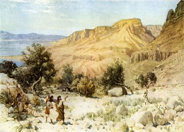 Israelite「David 's camp at Ein Gedi where he hid」:写真・画像(1)[壁紙.com]