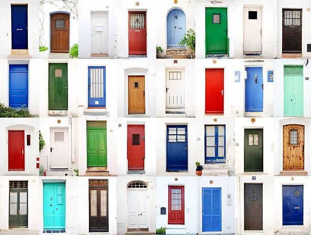 Sea village doors:スマホ壁紙(壁紙.com)