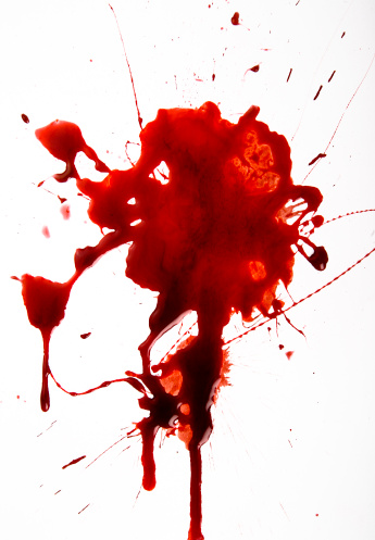 Splattered「Blood Splat on White Background」:スマホ壁紙(11)