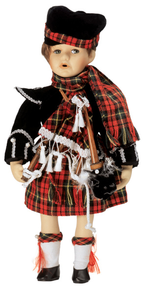Tartan check「female doll wearing Scottish outfit and carrying bagpipes」:スマホ壁紙(9)