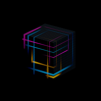 Quantum Computing「Glowing cube」:スマホ壁紙(8)
