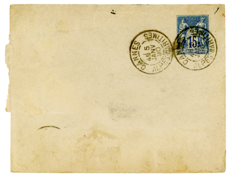 19th Century「Envelope posted in Cannes, France, 1890」:スマホ壁紙(1)