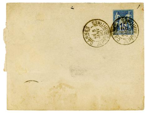 France「Envelope posted in Cannes, France, 1890」:スマホ壁紙(4)