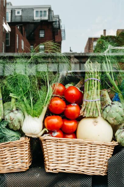 Storefront with Fresh Vegetable Display:スマホ壁紙(壁紙.com)