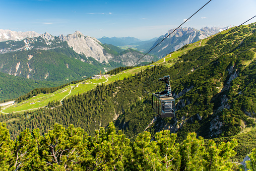 北チロル「ケーブルカー コースや Rosshütte から Härmelekopfbahn に上昇します。」:スマホ壁紙(6)