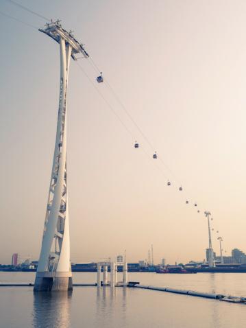Cable Car「Cable car across River Thames, London」:スマホ壁紙(0)