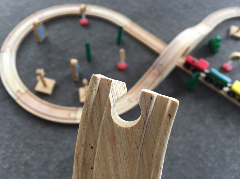 Recreational Horseback Riding「Wooden Toy Tain Railways Track」:スマホ壁紙(15)