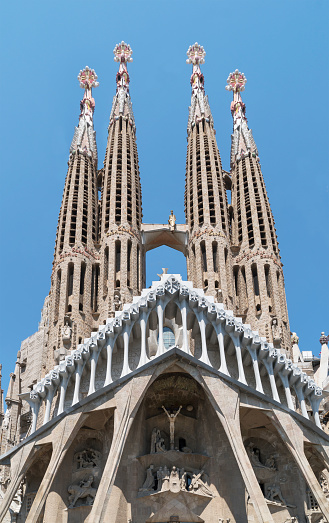 Barcelona - Spain「Barcelona. Antoni Gaudi's Sagrada Familia Cathedral」:スマホ壁紙(16)
