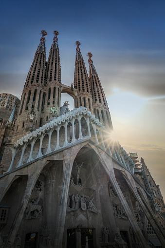 Barcelona - Spain「Barcelona. Antoni Gaudi's Sagrada Familia Cathedral」:スマホ壁紙(15)