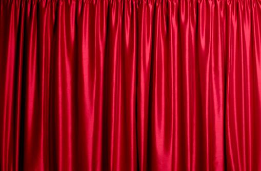 Curtain「Closed red silk theatre curtains」:スマホ壁紙(0)