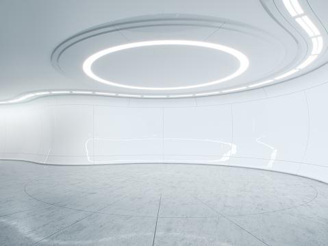 Futuristic「Future lab clean -Digitally created image.」:スマホ壁紙(8)