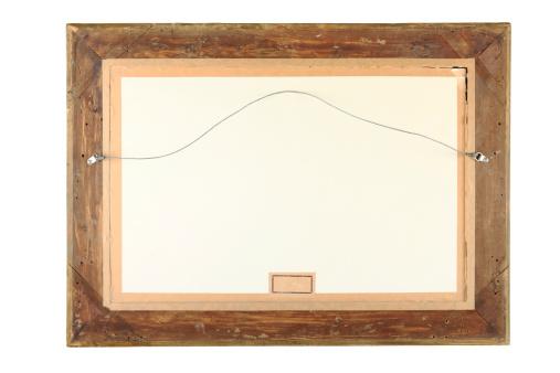 Peeling Off「Old Wooden emty Frame CLIPPING PATH」:スマホ壁紙(11)