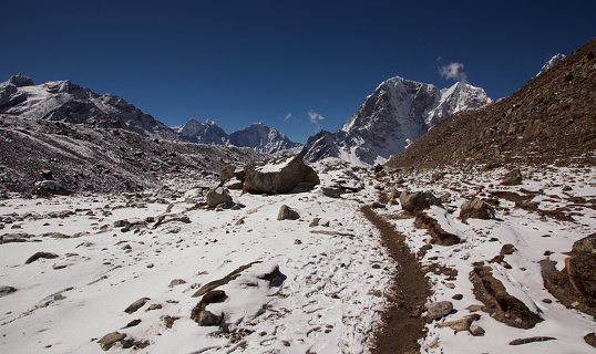 Khumbu Glacier「The trekking path, Lobuche, Everest Base Camp Trek, Nepal」:スマホ壁紙(19)