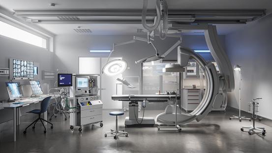 Emergency Services Occupation「Modern operating room in a hospital generated digitally」:スマホ壁紙(2)