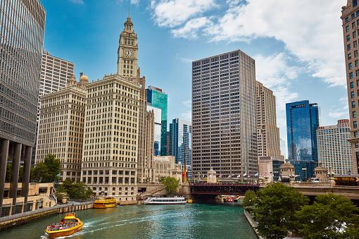 Illinois「DuSable bridge, Chicago」:スマホ壁紙(16)