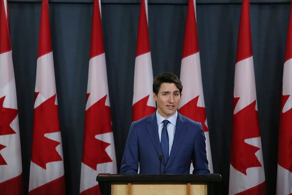 Ottawa「Canadian Prime Minister Justin Trudeau Holds Press Conference To Address Corruption Scandal」:写真・画像(12)[壁紙.com]