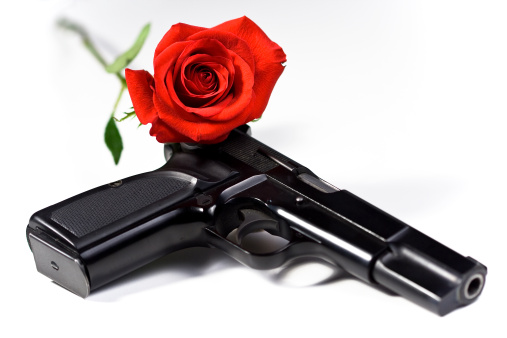 Semi-Automatic Pistol「Flower and gun」:スマホ壁紙(19)