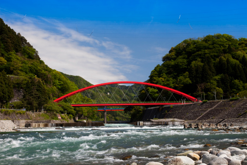 Grove「Aimoto Bridge Spanning Kurobe River」:スマホ壁紙(4)