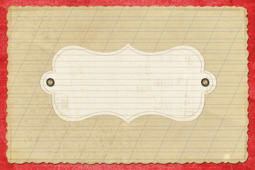 Manuscript「old grunge paper on the white isolated background」:スマホ壁紙(3)
