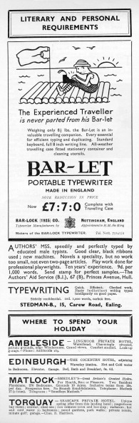 Portability「Advertisement for typewriter 1934」:写真・画像(12)[壁紙.com]