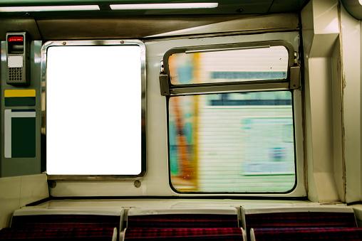 Passenger Train「Advertisement panel inside subway train」:スマホ壁紙(0)