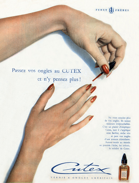 Nail Polish「Advertisement for Cutex nail varnish by Feret brothers, from french magazine Elle december 13, 1948」:写真・画像(4)[壁紙.com]