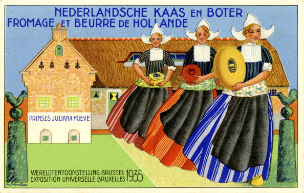 Netherlands「Advertisement for Dutch cheese and butter, 1935」:写真・画像(1)[壁紙.com]