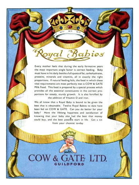Healthy Eating「Advertisement for Cow & Gate baby milk powder 1950s」:写真・画像(4)[壁紙.com]