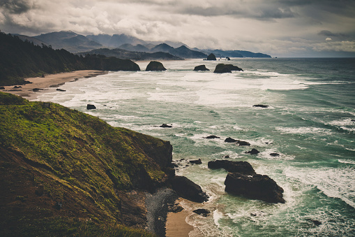 Cannon Beach「The view of the Oregon Coast and Cannon Beach from Ecola State Park」:スマホ壁紙(0)