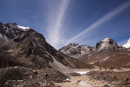 Khumbu「The view of the Fifth Lake from Scoundrels Viewpoint, Everest Base Camp via Gokyo Trek, Nepal」:スマホ壁紙(13)