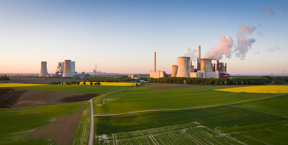 Grevenbroich「Lignite-fired power stations at sunrise」:スマホ壁紙(13)