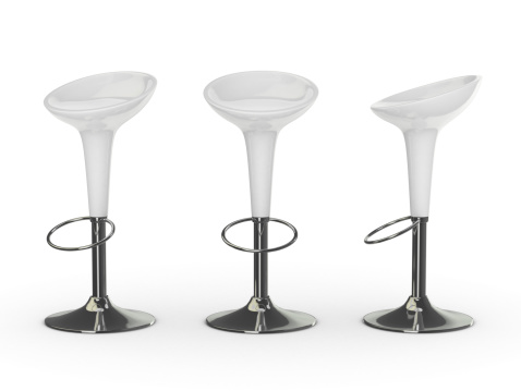 Stool「white 3d bar chair」:スマホ壁紙(5)