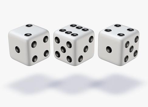 Approaching「Three white dice」:スマホ壁紙(17)